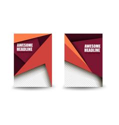 business brochure template art booklet brochure vector image