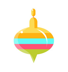 Colorful whirligig toy object from baby room vector