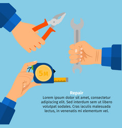 concept of repair and construction works vector image