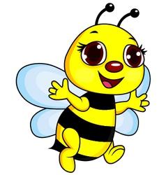 Cute Funny Bee Cartoon vector image vector image