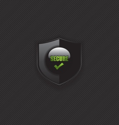 Secure check mark shield icon vector image vector image