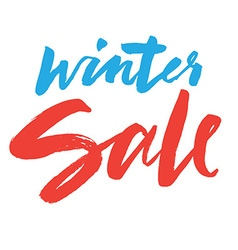 Clearance Hand lettering Winter sale vector image vector image