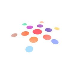 creative icon round shape isolated sun vector image