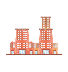 drawing building contemporary city vector image