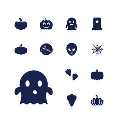 13 halloween icons vector