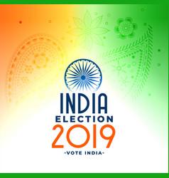 2019 indian general loksabha election concept vector