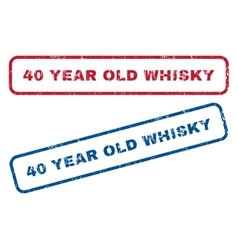 40 Year Old Whisky Rubber Stamps vector