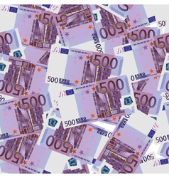 500 Euro bills seamless vector image