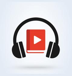Audio book icon modern design vector