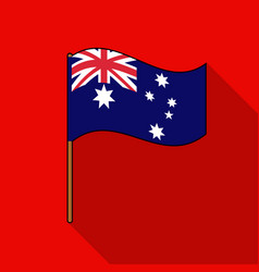 australian flag icon in flat style isolated on vector image