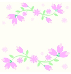 background with lily flowers vector image vector image