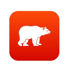 bear icon digital red vector image vector image