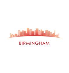 birmingham skyline silhouette design colorful vector image