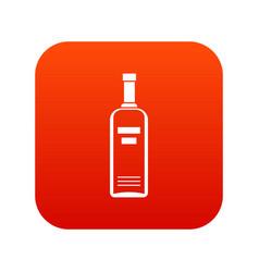 bottle of vodka icon digital red vector image