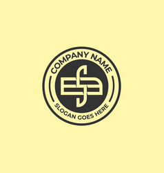 Bs initial name logo sb letter name vintage logo vector
