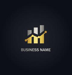 Business graph company gold logo vector