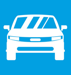Car icon white vector