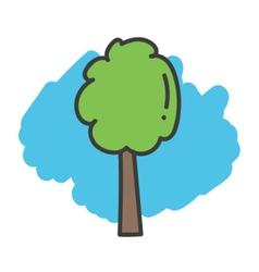 Cartoon doodle tree vector