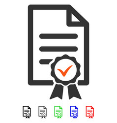 certified flat icon vector image
