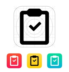 Check clipboard icon vector image