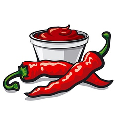 Chilly peppers vector