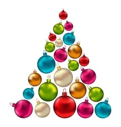 Christmas Abstract Tree made in Colorful Balls vector image