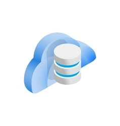Cloud and data storage icon isometric 3d style vector