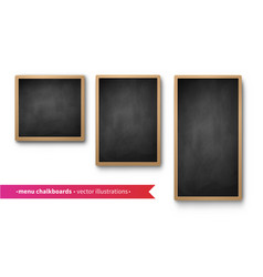 collection isolated menu boards vector image
