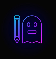 colorful ghostwriter icon vector image