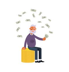 concept of retirement money plan vector image