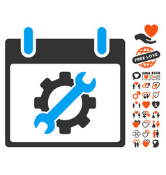 configuration tools calendar day icon with vector image