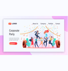 corporate party service website template a vector image