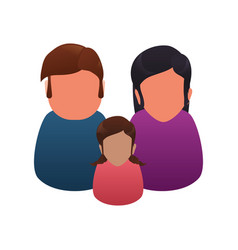 Couples relationship family child faceless vector