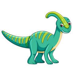 cute green dinosaur character vector image