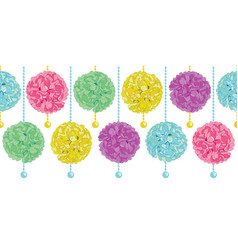 cute set of hanging pastel colorful vector image