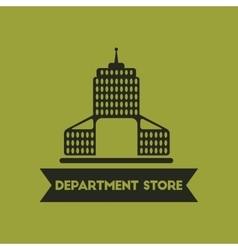Department store building vector