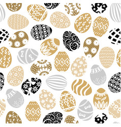 Easter decorative eggs pattern seamless vector