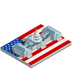 Election Infographic Politic Congress Isometric vector