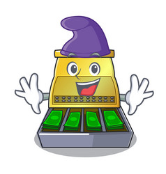 Elf electronic cash register isolated on a cartoon vector