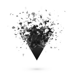 explosion effect shatter dark triangle abstract vector image