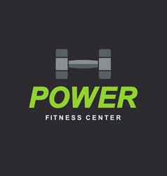 fitness gym logo sign bodybuilding club template vector image