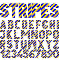 Font stripes vector