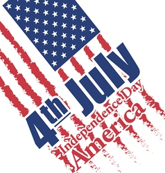 Fourth of july independence day of America vector