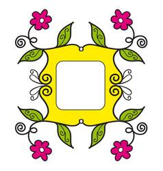 Frame yellow vector