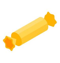 gold bonbon icon isometric style vector image