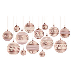 gold metal bauble ornament vector image vector image