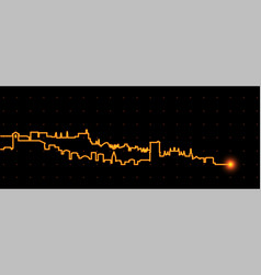 granada light streak skyline vector image