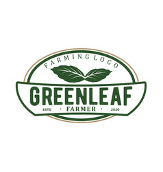 Green leaf organic farming botanical nature vector
