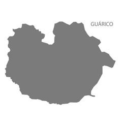 Guarico venezuela map grey vector