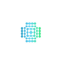 Halftone medical icon blue and green gradient vector
